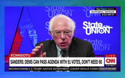 Bernie Sanders dice que los senadores demócratas podrían usar regla del Senado para aprobar el paquete de ayuda económica por la pandemia