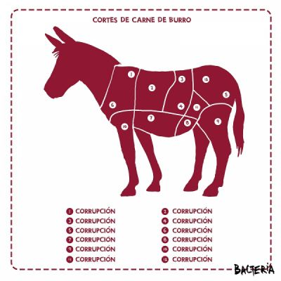 CORTES DE CARNE DE BURRO